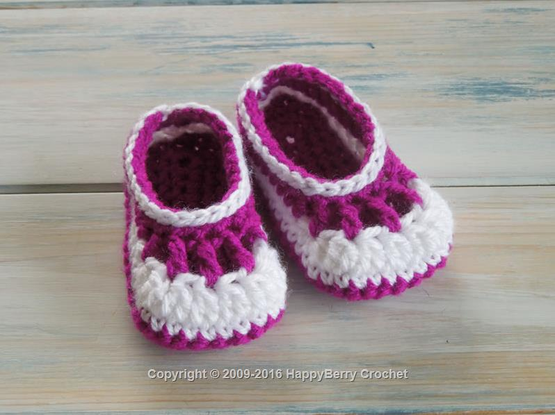 Easy Crochet Baby Afghan Free Patterns : Baby Babble Booties HappyBerry