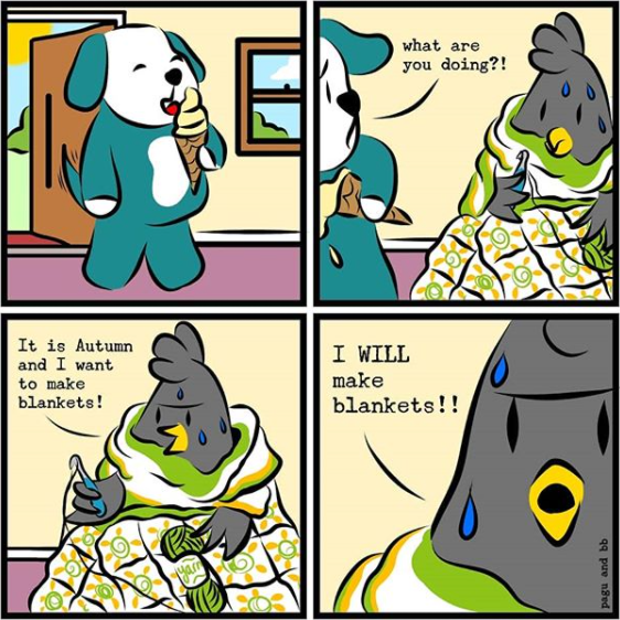 Pagu and BB Comic Strip