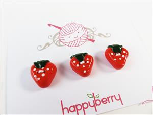 3 x Strawberry Buttons