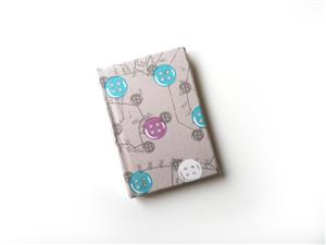 A7 Button Themed Note Book