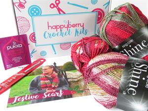 Crochet Kit - Festive Scarf