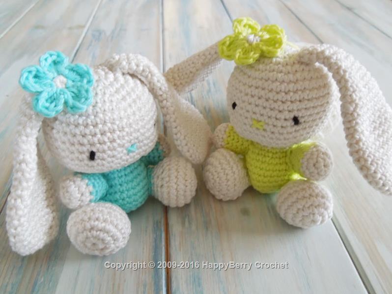 Cute Amigurumi Knitting Patterns : Amigurumi bunny happyberry