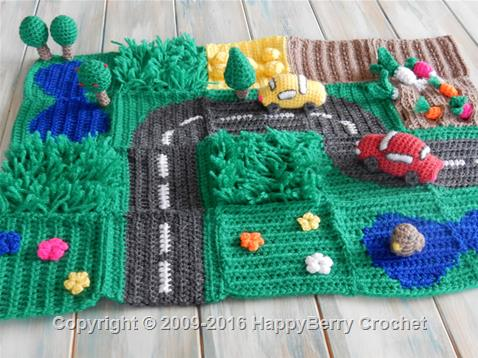 Road PlayMat - Straight Road Square