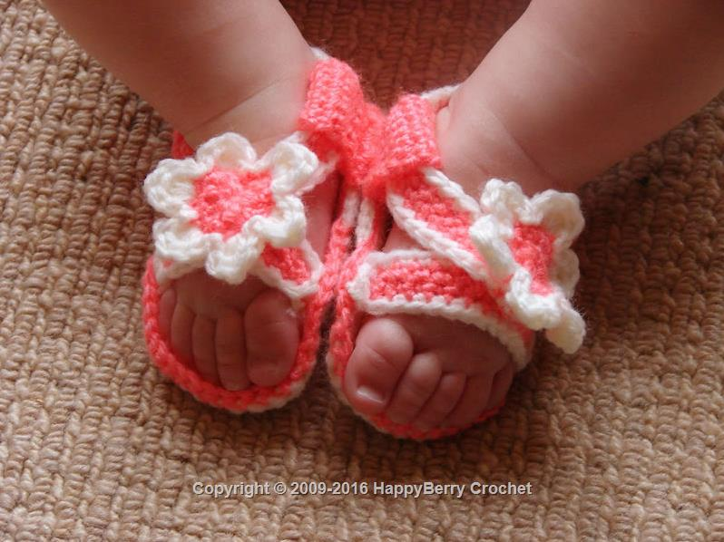 Crochet Baby Sandals Happyberry