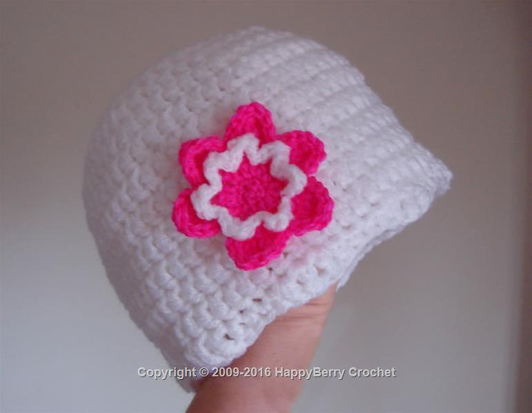 Girl's Beanie with Flower