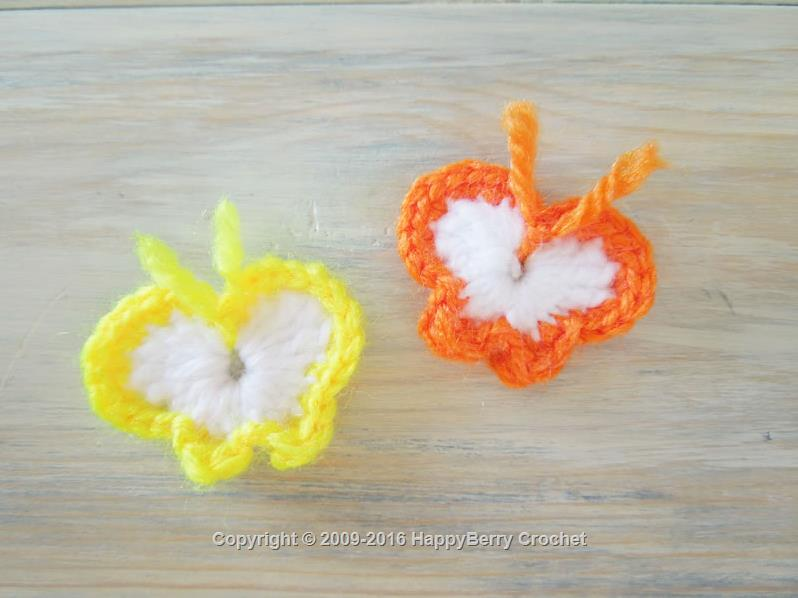 Small Crochet Butterfly