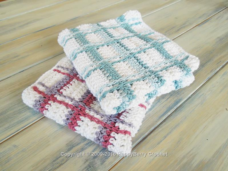 Tartan Plaid Wash Cloths