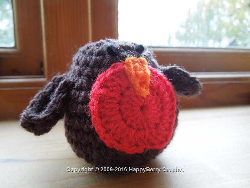 Fat Crochet Robin