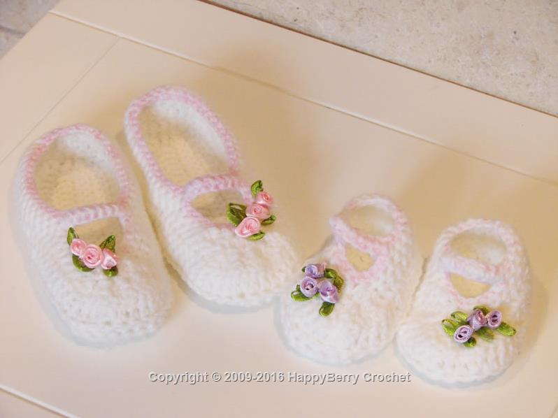 Rose Bud Booties