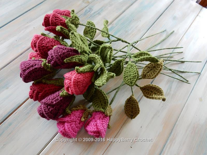 Roses in 3D Free Crochet Pattern - Pattern Center | 598x798