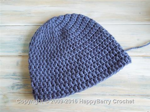 Simple Beanie for 3 years - pre-teens