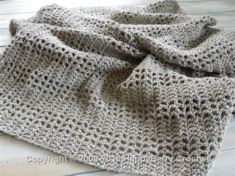Mesh Filet Afghan Blanket