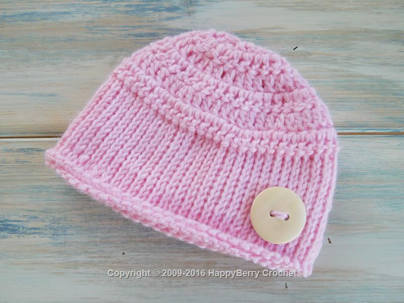 Tunisian Baby Beanie Happyberry