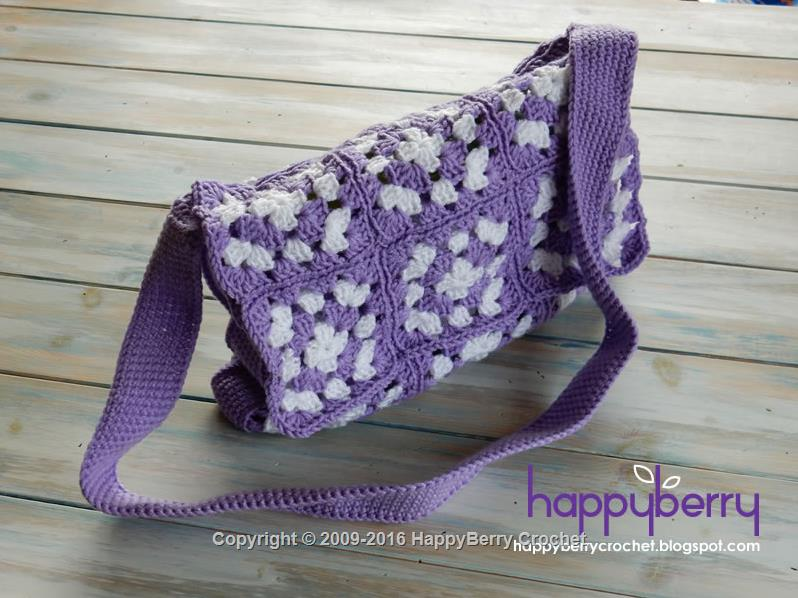 Simple Granny Square Bag HappyBerry