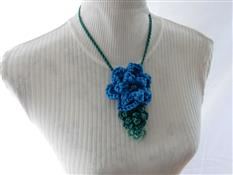 Beaded Double Layered Flower Necklace