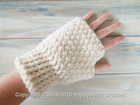 Finger-less Mitten Gloves