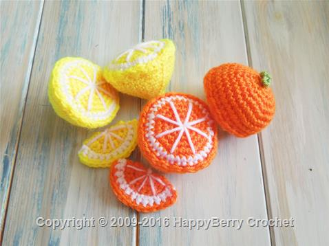 Orange and Lemon Fruit Segments