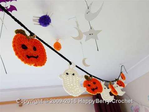 Ghost and Pumpkin Bunting