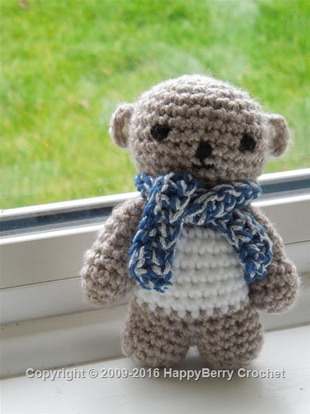 Crochet Scarf Bear