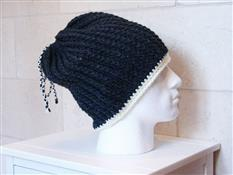 Oversized 'Messy Bun' Ribbed Beanie