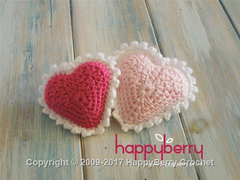 Padded Crochet Heart