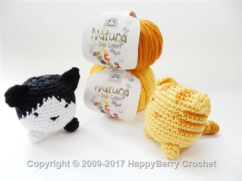 Crochet Cube Cat - Tabby and B&W
