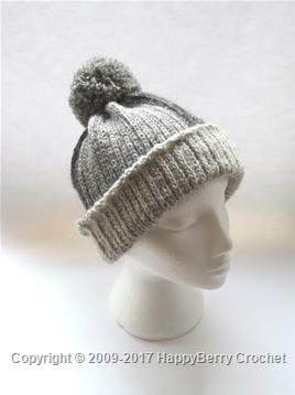 Crochet Knit Stitch Beanie