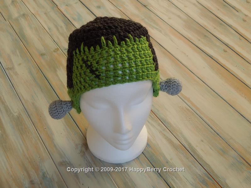 Crochet Frankenstein Beanie