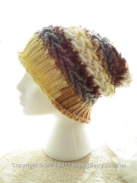 08bc4b5f2fa Free Crochet Patterns - Hats. Zig Zag Ribbed Beanie