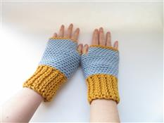 Slip Stitch Fingerless Gloves