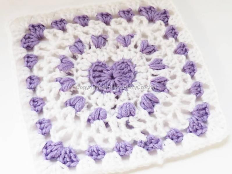 Large Heart Granny Square | HappyBerry