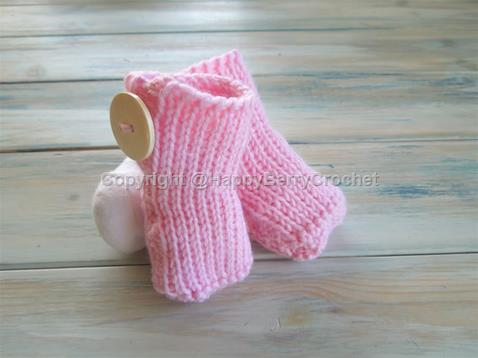 Knit Stitch Baby Booties