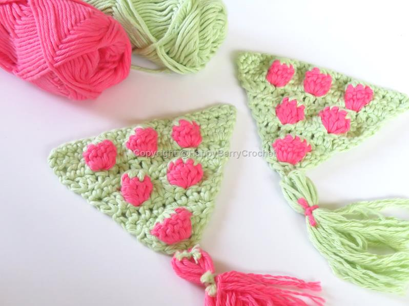 Summer Bunting/Pennant - Strawberry Triangle