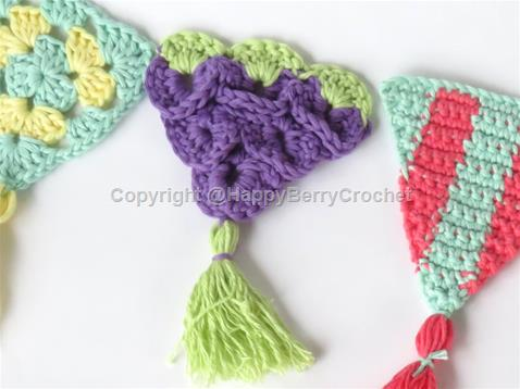 Summer Bunting/Pennant - Grapes Triangle
