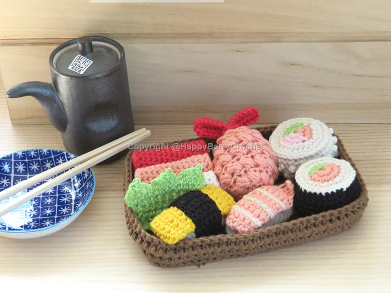 Amigurumi fruits and veggies play set | Bubanana | 598x798