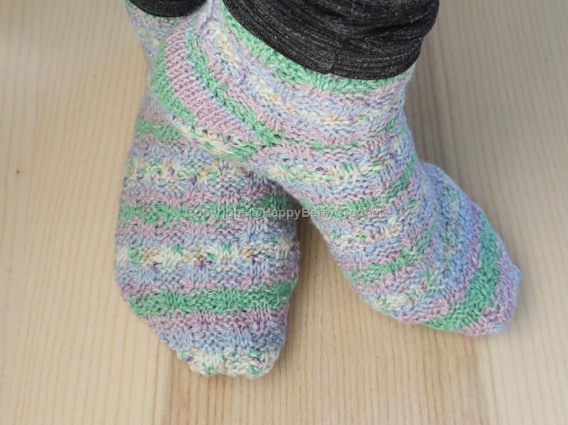 Tunisian Basket Weave Socks