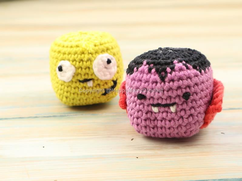 Vampire and Zombie Crochet Halloween Critters
